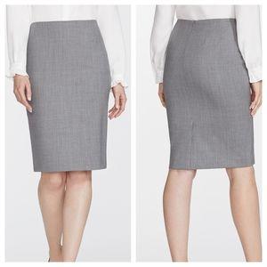 Lafayette 148 New York Italian Wool Pencil Skirt